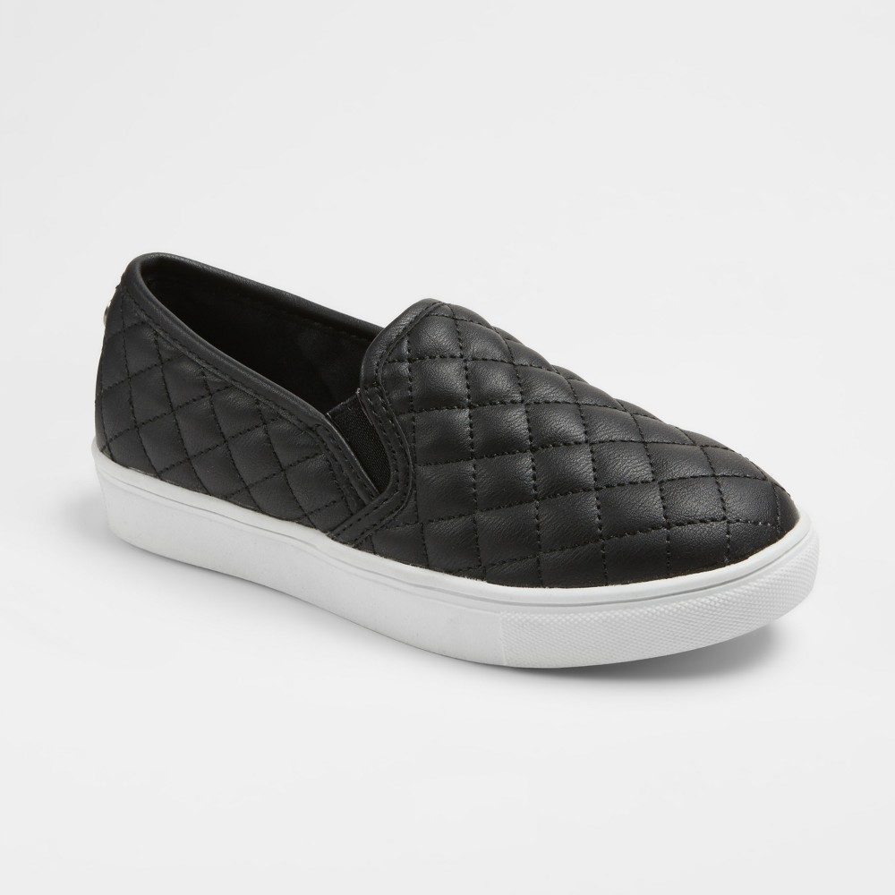 Girls' Stevies #koolkicks Quilted Twin Gore Sneakers - Black 13