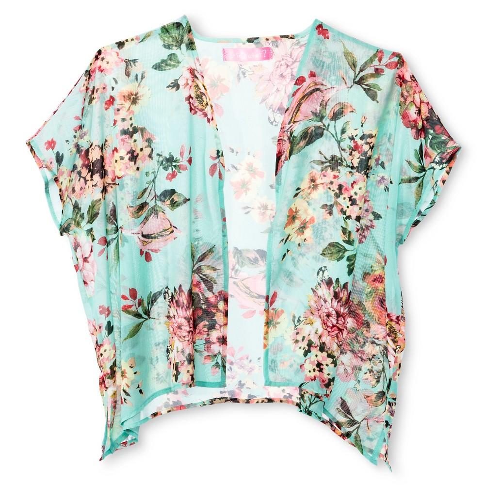 Say What? Girls' Kimono Jacket XL(14-16), Multi-Colored