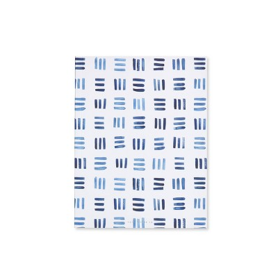 Special Lined Weave Patterned Composition Notebook Blue - West Emory