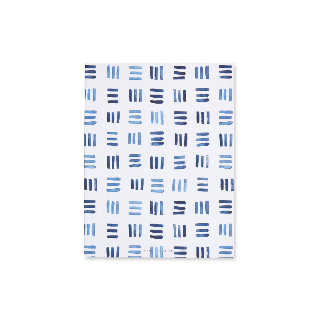Image of Special Lined Weave Patterned Composition Notebook Blue - West Emory