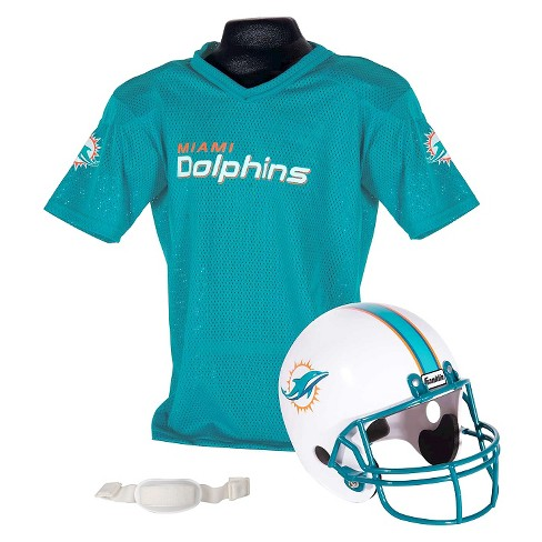 dc9f94cb Franklin Sports NFL Team Helmet and Jersey Set - Ages 5-9 - Miami Dolphins