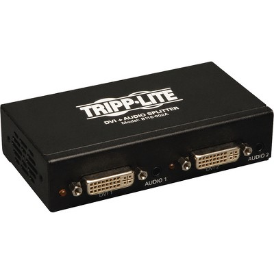 Tripp Lite 2-Port DVI Single Link Video / Audio Splitter / Booster DVIF/2xF - 1920 x 1200 - WUXGA - 1 x 22 x DVI Out - TAA Compliant