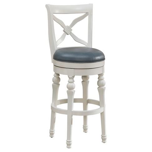 Pleasing 30 Livingston Swivel Barstool Wood Antique White American Heritage Billiards Pdpeps Interior Chair Design Pdpepsorg