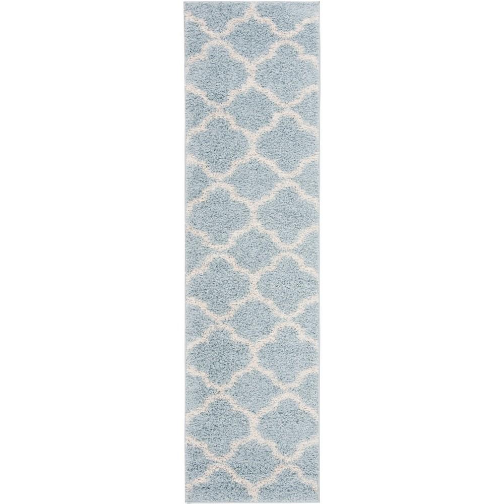 2X8 Quatrefoil Design Loomed Runner Blue/Ivory - Safavieh Coupons
