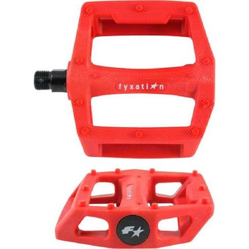 "Fyxation Gates Pedals Wide Platform Composite Plastic 9/16"" Red Molded Grip Stud - image 1 of 1"