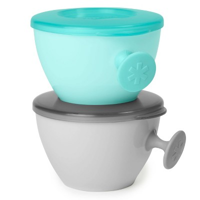 Skip Hop Easy Grab Bowls Gray/Soft Teal - 2pk