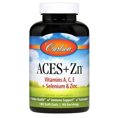 Carlson - ACES + Zn, Vitamins A, C, E + Selenium & Zinc, Multivitamin with Zinc, Antioxidant