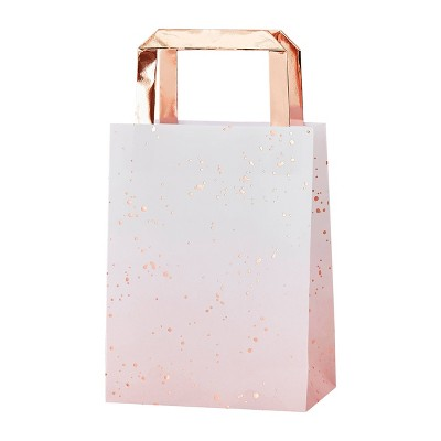 5ct Watercolor Party Gift Bags Pink