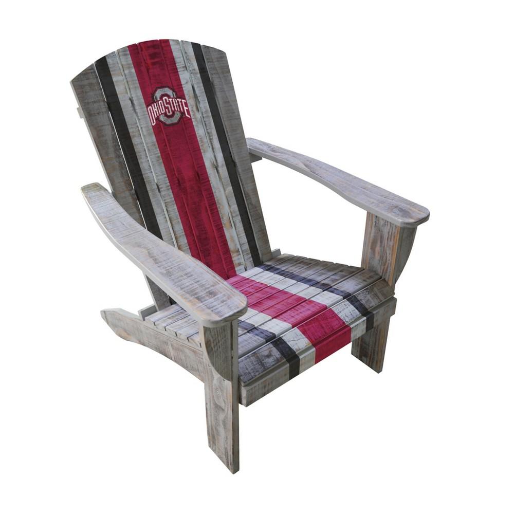 NCAA Ohio State Buckeyes Wooden Adirondack Chair