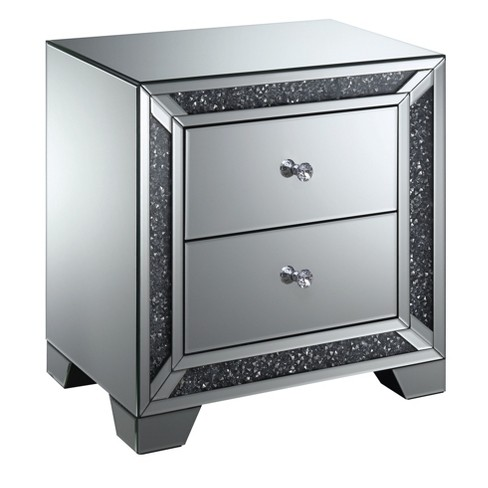 Allen 2 Drawer Side Table Silver - ioHOMES - image 1 of 4