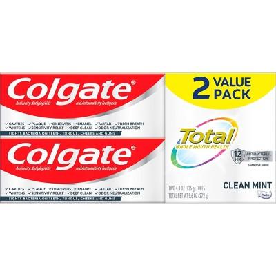 Colgate Total Clean Mint Paste Toothpaste - 4.8oz