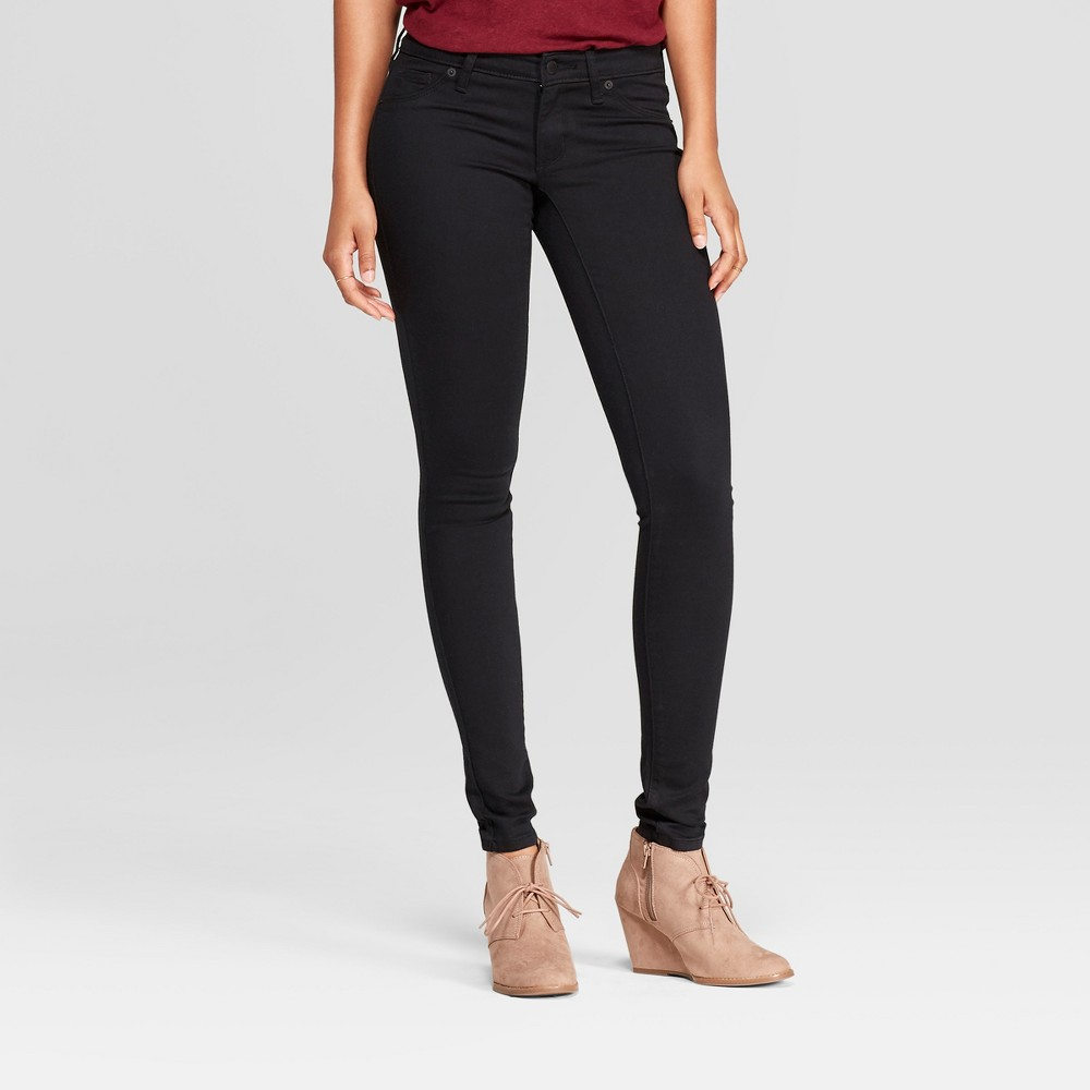 Women's Low-Rise Jeggings - Universal Thread Black Wash 6