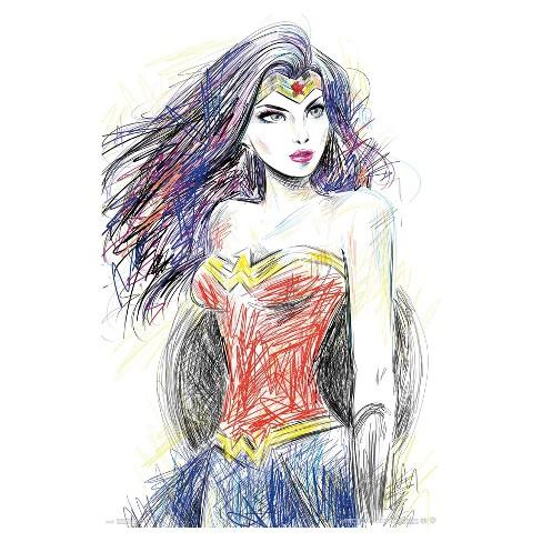 Wonder Woman Sketch Poster 34x22 - Trends International : Target