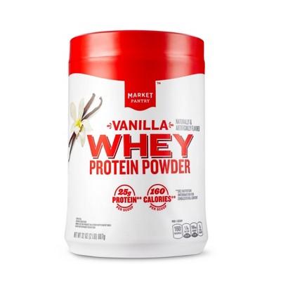 Whey Protein Powder - Vanilla - 32oz - Market Pantry™