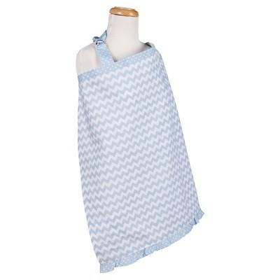 Trend Lab Blue Sky Chevron Nursing Cover - Blue
