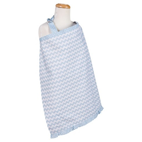 Trend Lab Blue Sky Chevron Nursing Cover - Blue - image 1 of 1