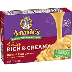 Annie's Homegrown Deluxe Mac and Cheese Four Cheese - 11.3oz