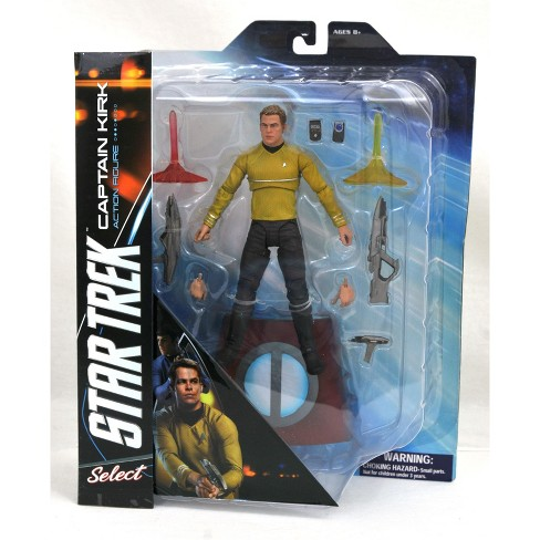 "Captain James T Star Trek Kirk 7"" Figure With Accessories By McFarlane Toys"