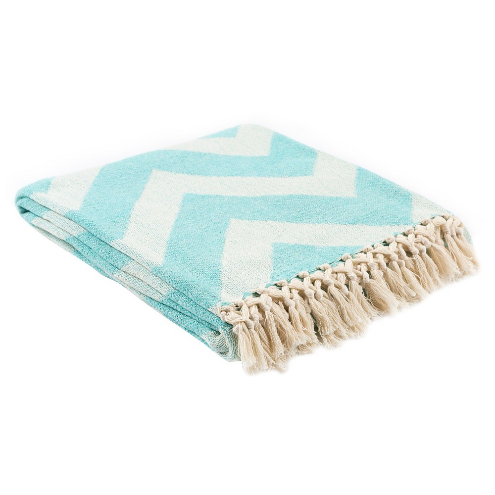 Aqua Lani Chevron Throw 50
