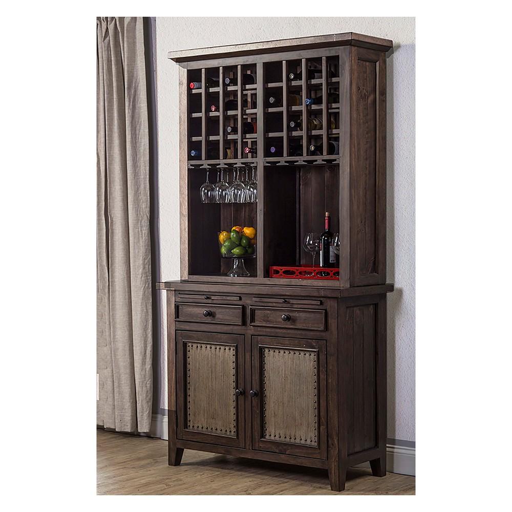 Tuscan Retreat Hutch Mocha - Hillsdale Furniture, Mocha Black