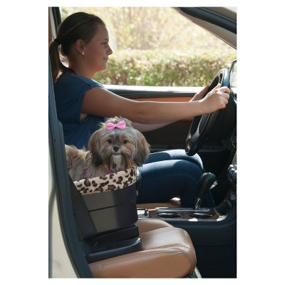 "Dogs Gear 17"" Bucket Seat Booster With Leopard Spot Insert"