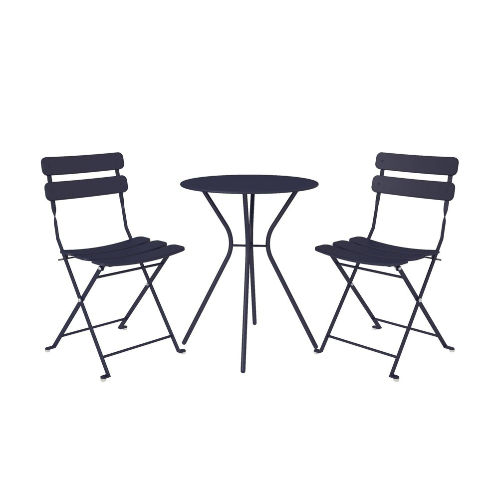 Image of Cosco 3pc Bistro Set with 2 Folding Chairs - Navy