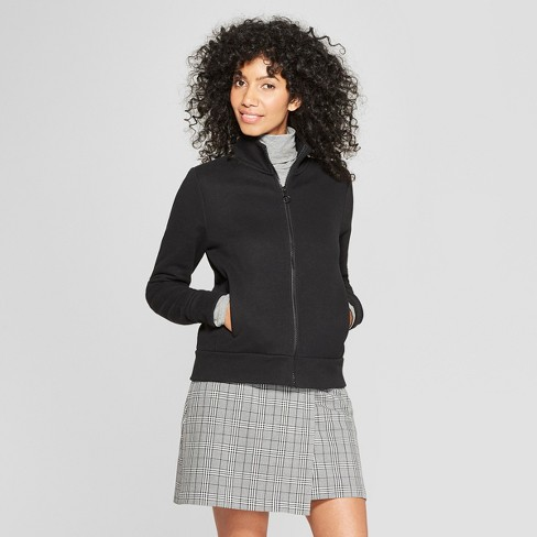 b9e7ec6a8 Women's Mock Neck Knit Bomber Jacket - A New Day™ Black S