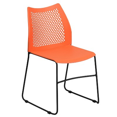 Flash Furniture HERCULES Series 661 lb. Capacity Stack Chair with Air-Vent Back and Powder Coated Sled Base