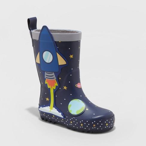 Toddler Boys' Hudson Rain Boots - Cat & Jack™ Navy - image 1 of 3