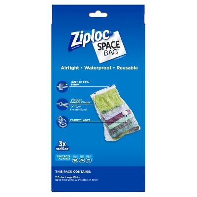 Ziploc 2 pack Space Bag (Extra large), Clear