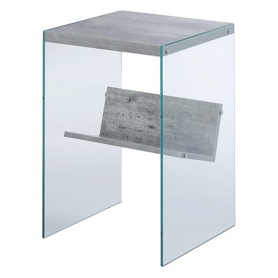 Johar Furniture Soho Faux End Table Oak Brown