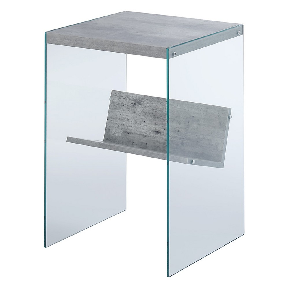 Soho Faux End Table  - Johar Furniture Soho Faux End Table Gray - Johar Furniture