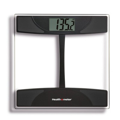 Glass Weight Tracking Scale Black/Clear - Health-O-Meter