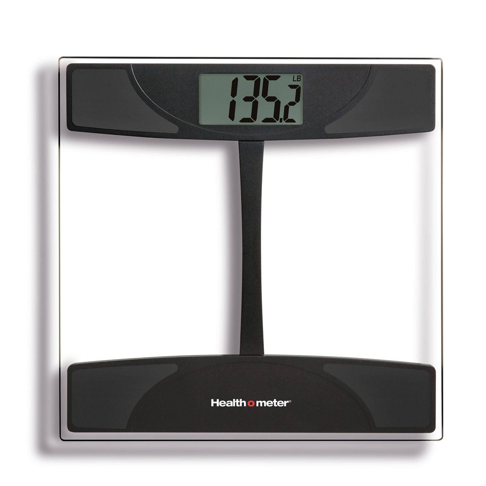 Glass Weight Tracking Scale Black Clear Health O Meter