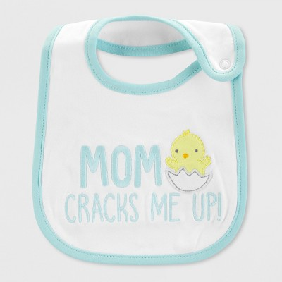 Baby Mom Cracks Me Bib - Just One You® made by carter's Mint/White One Size