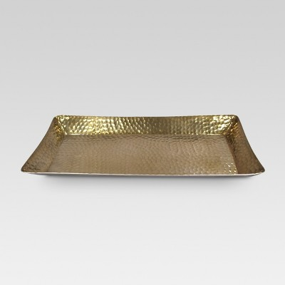 Metal Hammered Serving Tray - Gold - Threshold™