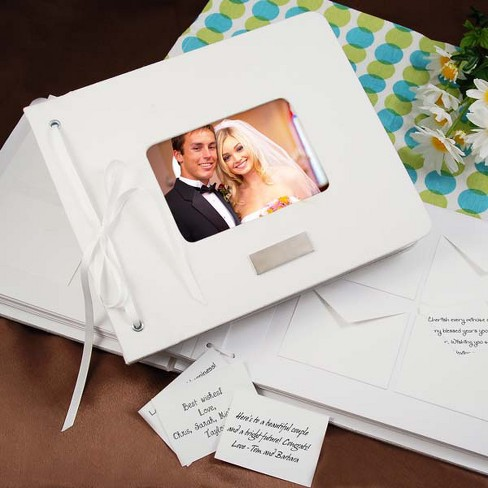 Monogram Wedding Wishes Envelope Guest Book - image 1 of 2