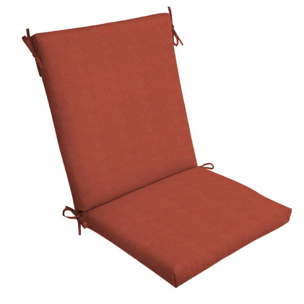 Sedona Woven Outdoor Chair Cushion Orange Arden Selections