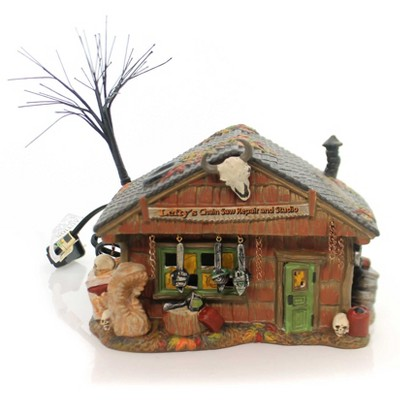 "Department 56 House 5.25"" Lefty's Chain Saw Repair & Studio Lighted Skulls  -  Decorative Figurines"