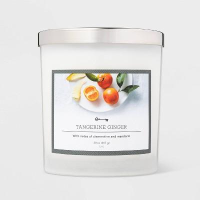 20oz Jar 3-Wick Candle Tangerine Ginger - Threshold™