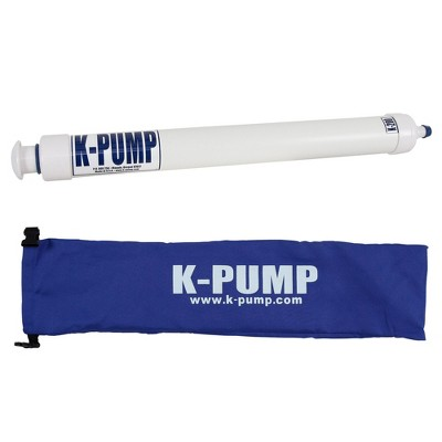 K-Pump K-200 Compact Portable Inflatable Kayak Raft Boat Water Sport Hand Air Inflation Pump with Storage Bag