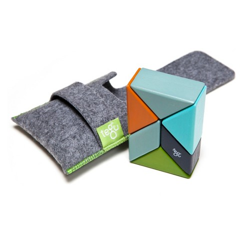 Tegu Pocket Pouch Prism Magnetic Wooden Blocks - Nelson (6 Piece) - image 1 of 4