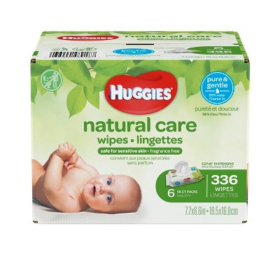 Huggies Natural Care Fragrance Free Baby Wipes - 336ct