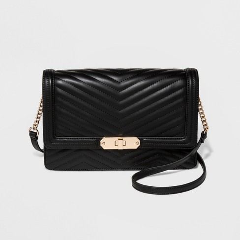 Quilted Flap Lock Crossbody Bag - A New Day™ - image 1 of 3