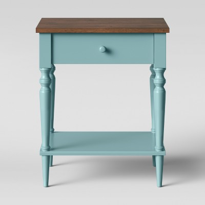Isabella One Drawer Nightstand - Blue