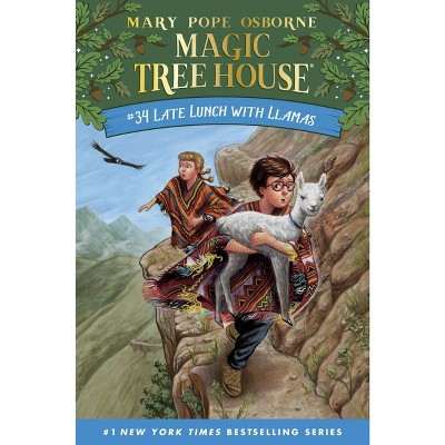 Late Lunch with Llamas - (Magic Tree House (R)) by Mary Pope Osborne (Hardcover)