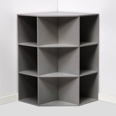 Corner Cube Bookshelf Gray - Room Essentials™