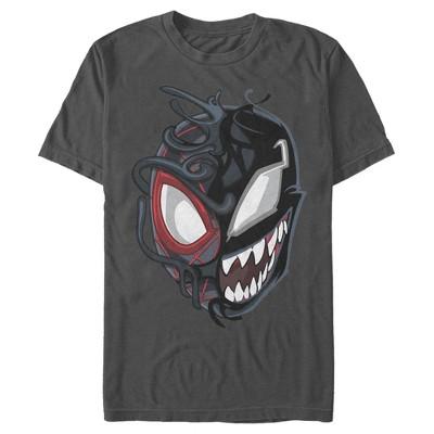 Men's Marvel Spider-Man Miles Venom Mask T-Shirt