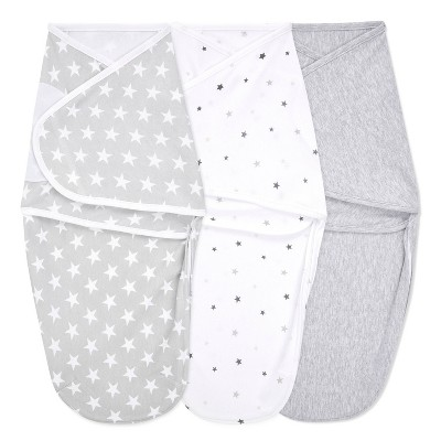 aden + anais Essentials Easy Swaddle Wrap - Twinkle Neutral 0-3 Months 3pk