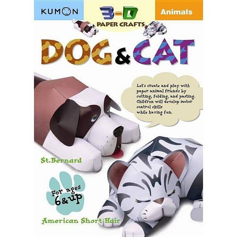Animals - (Kumon 3-D Paper Crafts) (Paperback) - image 1 of 1